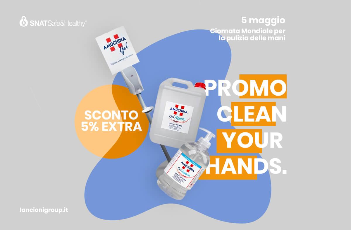igiene delle mani giornata internazionale 2021 promo x gel amuchina lancioni group